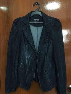 Denim Blazer Cut Jacket
