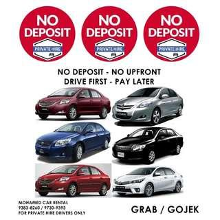 NO DEPOSIT / NO UPFRONT GRAB | PRIVATE-HIRE Booking & Enquiries 9383-8260 / 9730-9393 (CALLS ONLY)