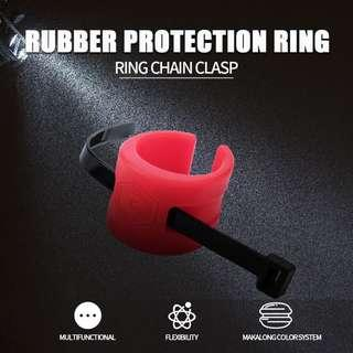 Bicycle Chain Protection Silicone Sleeve Road Bike Rear Fork Anti-collision Rubber Protection Ring Chain Protection Kit