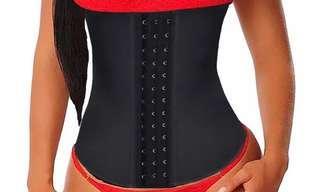 Women Latex Corset Waist Control Corset and Bustier Steel Bone Underbust Waist Trainer Corset Slimming Shaper Corset