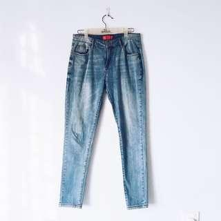 Light Blue Denim Slim Fit Jeans
