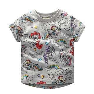 🚚 JB021 Toddler Girls Grey Little pony Tee T-shirt Top