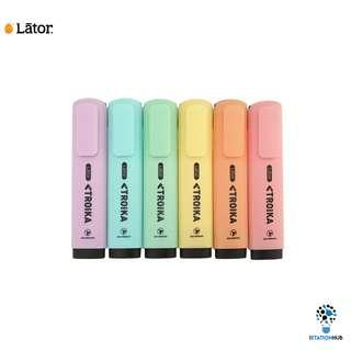 Lator Troika Highlighters | Pastel | 6 Colour Set [WS-LATOR-HL-PASTEL(6PCS/SET)]
