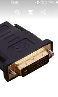 DVI (male) to HDMI (female) converter