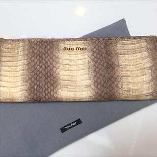 🚚 Mui Mui Watersnake Clutch Bag