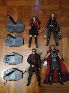 Hottoys AOU Avengers Thor Black Widow Hawkeye Scarlet Witch
