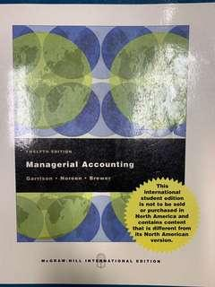 Managerial accounting by Garrison Noreen Brewer