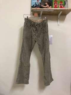 🚚 燈芯絨 卡其色 喇叭褲 長褲 古著 二手