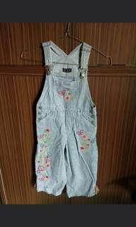 Baju kodok/overall /jumpsuit anak perempuan