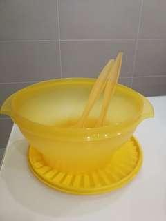 Tupperware Salad Bowl 3.8L with Fork (2)