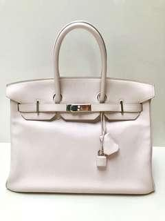 6cdb8a475a Hermes Birkin 35 - Rose Dragée Swift
