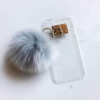 🚚 金屬釦環毛茸茸手機殼 iPhone6+/iPhone6s+