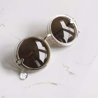 🚚 透明邊框圓鏡片墨鏡