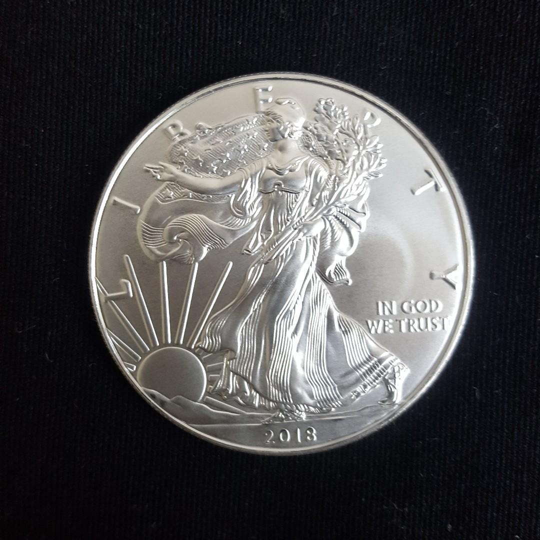 1 oz Silver American Eagle Coin (BU) various years
