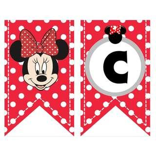 Bunting Banner - Minnie Mouse