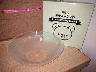 🚚 [杉媽雜貨鋪][日本LAWSON限定版拉拉熊透明湯碗](不保不退)