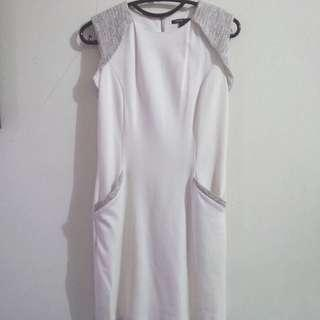 Mango Dress White XS PRELOVED like NEW Original