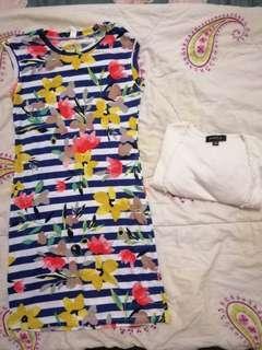 Mini dress free mini cardigan