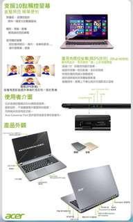 🚚 Acer V5-473PG 14吋 i5-4200U雙核4G獨顯1TB觸控筆電