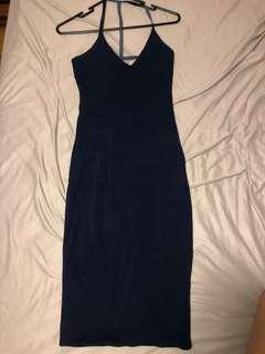 Midi navy dress bodycon