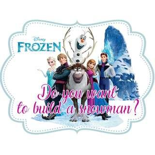 🚚 Table Display Signage - Frozen