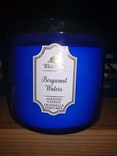 Bath & body works 3 wicks candle bergamot water