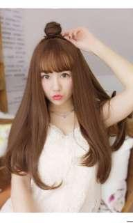 Honey brown hair wig extension