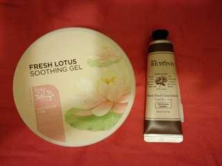 The Face shop - Fresh Lotus Soothing Gel + Classic Hand Cream