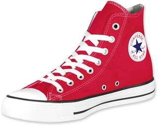 🚚 Red Highcut sneakers(NOT REAL CONVERSE)