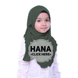 🚚 HANA HIJAB (instant slip-in) / KIDS INSTANT SHAWL