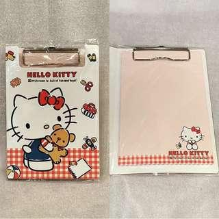 Hello kitty clipboard with memopad