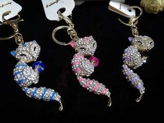 🚚 藍狐. 紫狐. 粉紅狐.  🐱立體鑰匙圈