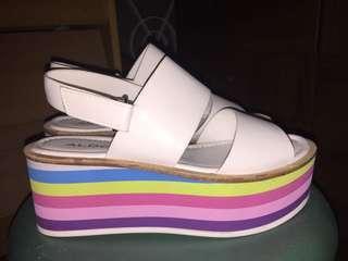 Authentic Aldo White Sandals