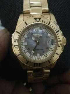 Authentic INVICTA 2963 Divers ladies Watch stainless steel Gold