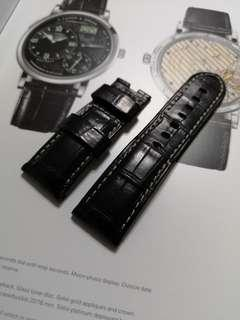 Authentic panerai alligator black strap for Deployant buckle use type