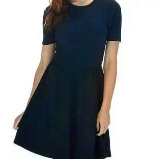 🚚 CO Sophie Navy Textured Skater Dress
