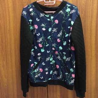 H&M Floral Bomber Jacket