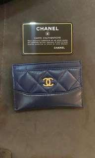 CHANEL Gabrielle cardholder in navy
