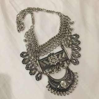 Forever 21 Silver Boho Necklace