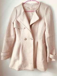 🚚 針織修身大衣/氣質粉