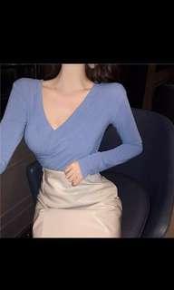 Light blue tops