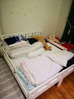 Ikea Bed Frame + free mattress & covers
