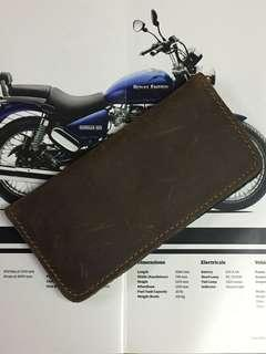 Crazy Horse Leather Long Wallet