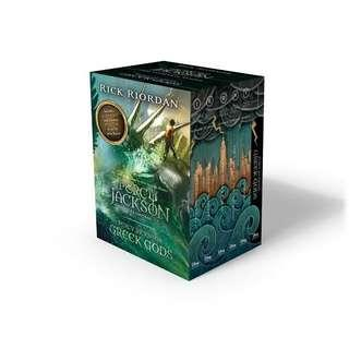 Percy Jackson and the Olypmians Complete set with Greek Gods