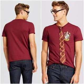 Men's Harry Potter T-Shirt With Glasses & Tie