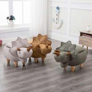 🚚 Anivia Baby Dinosarus Ottoman Pouffe Side Stool Sofa