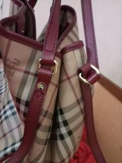 Burberry haymarket bag urgent sell
