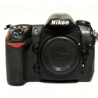 Nikon D200 Body Only SC 2rb Mulus