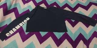 SWEATER CROP COLORBOX (BIRU DONGKER)