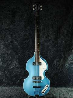 Hofner Baby Blue Bass Guitar w/New Hardcase + Gift 提琴形 低音結他 連結他硬箱 兼送Mini Amp